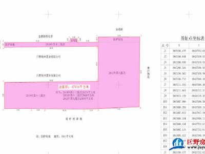 巨野县建设用地规划许可公示、土地挂牌公告